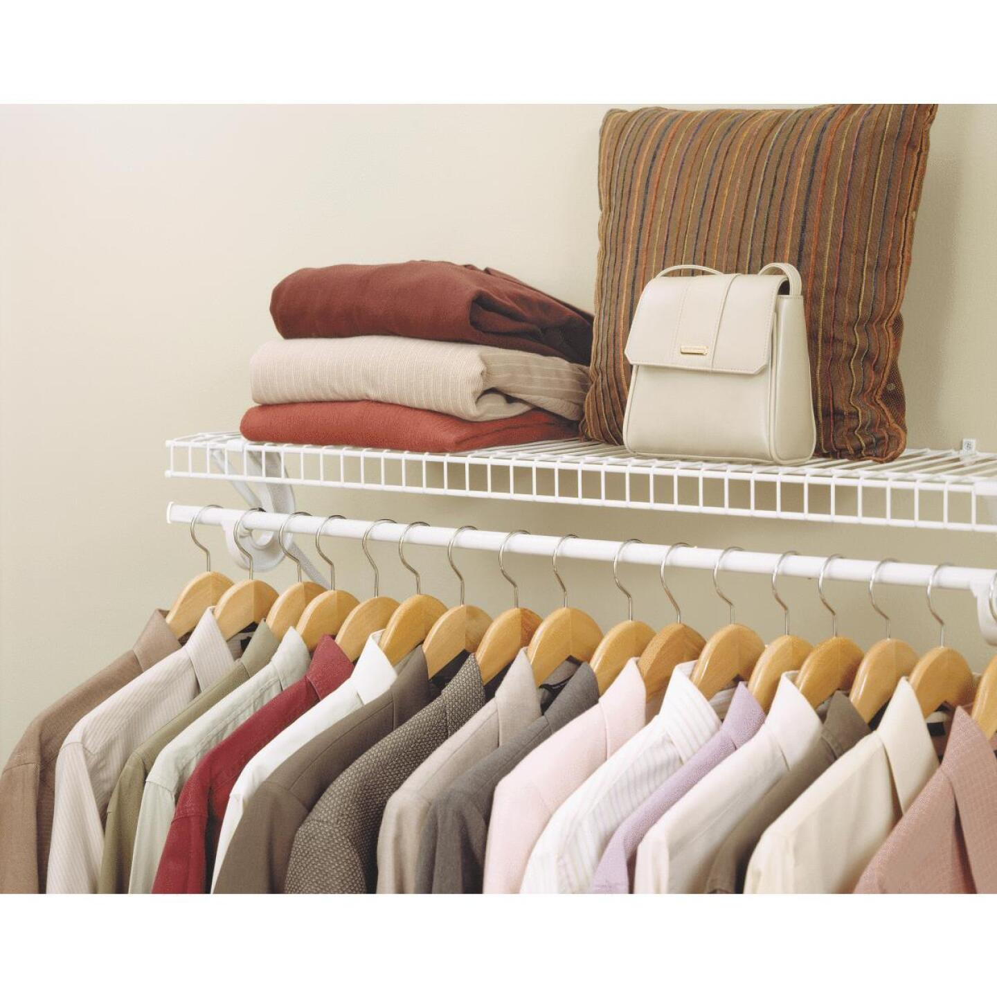 ClosetMaid SuperSlide 4 Ft. W. x 12 In. D. Ventilated Shelf Kit with Bar Image 2