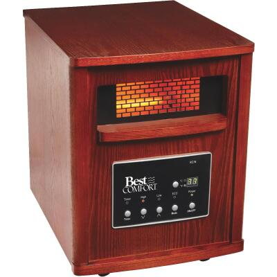 Best Comfort 1500-Watt 120-Volt Quartz Heater with Woodgrain Cabinet