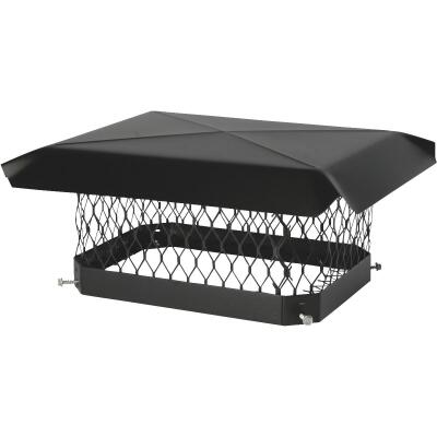 Shelter 9 In. x 18 In. Black Galvanized Steel Chimney Cap