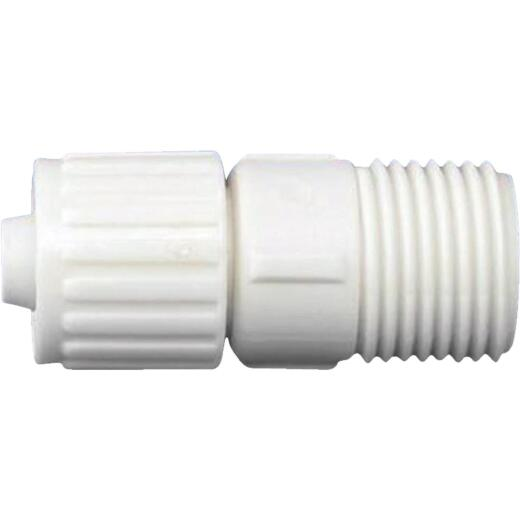 Flair-It 3/8 In. x 1/2 In. Poly Alloy Male Pipe Thread Adapter