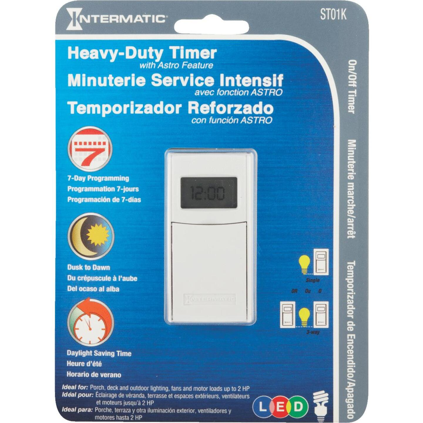 Intermatic 120V 15A 500W 24-Hour Timer Image 2