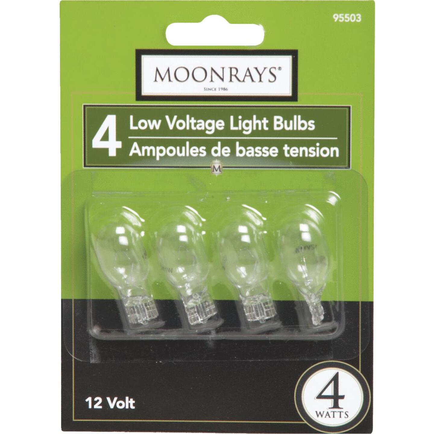 Moonrays 4W Clear T5 Wedge Base Landscape Low Voltage Light Bulb (4-Pack) Image 2