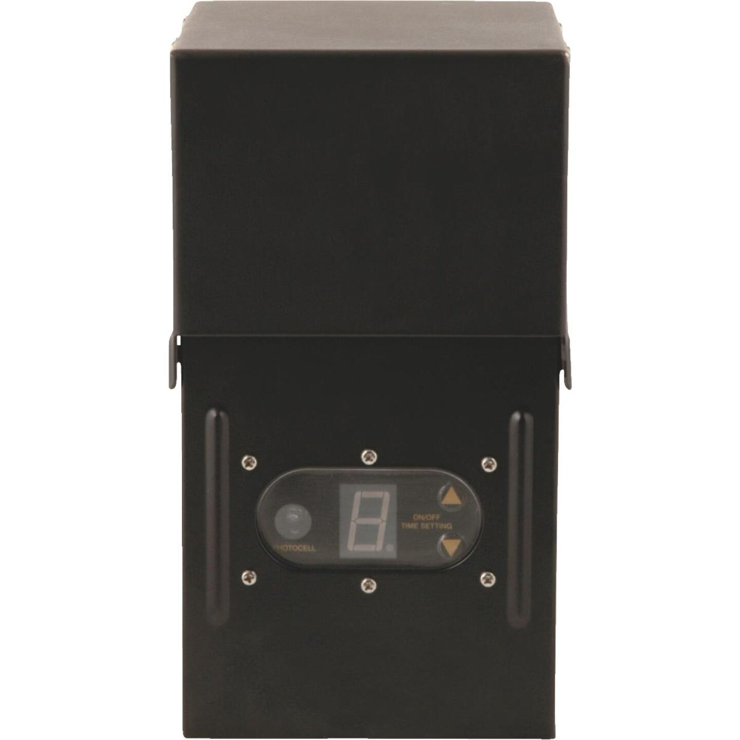 Moonrays 200W Black Low Voltage Control Box with Digital Photocell Image 1