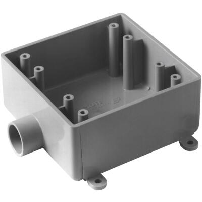 Carlon 2-Gang PVC Molded Rigid Non-Metallic Dead-End Termination Wall Box