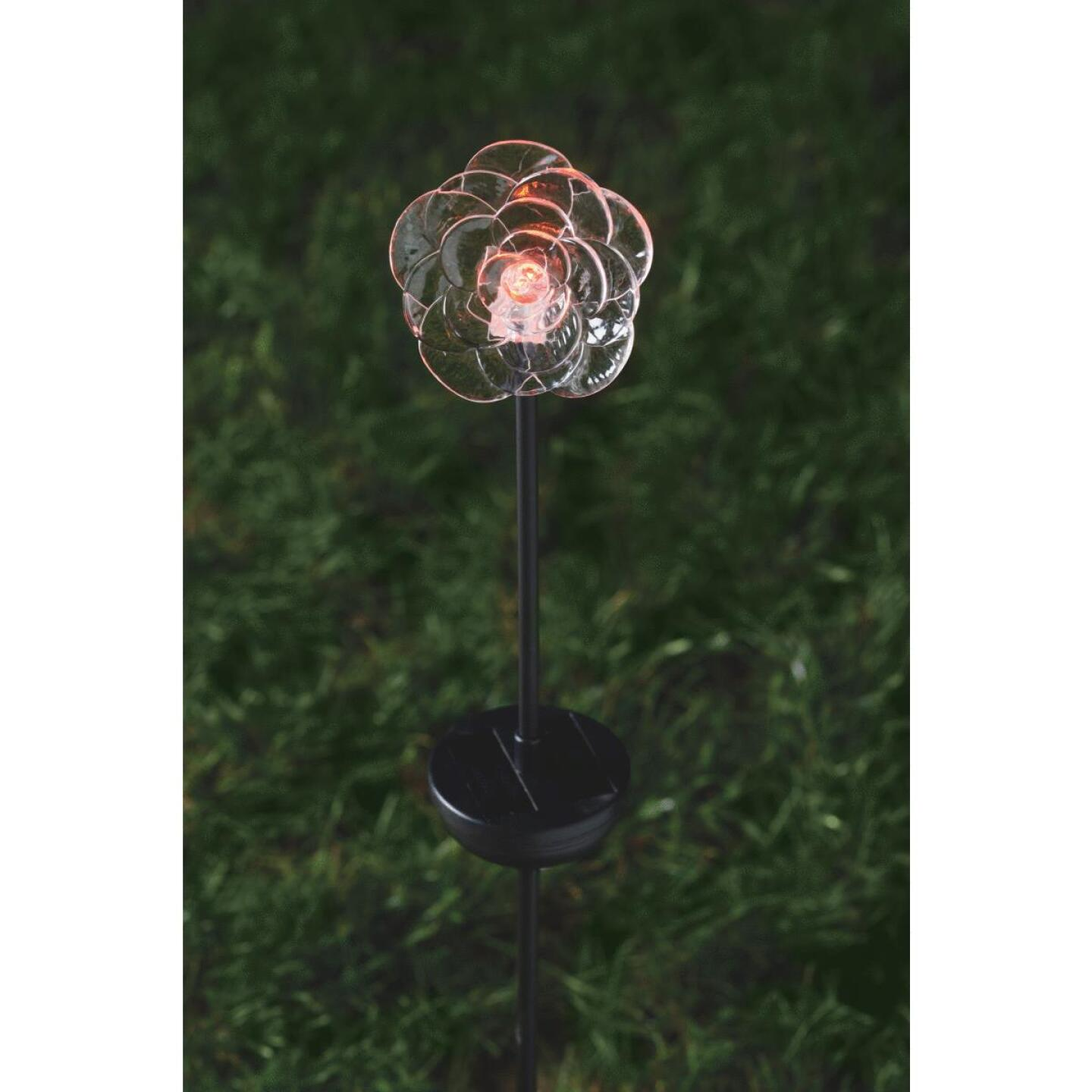 Moonrays Color Changing Plastic 32 In. H. Solar Stake Light Lawn Ornament Image 3