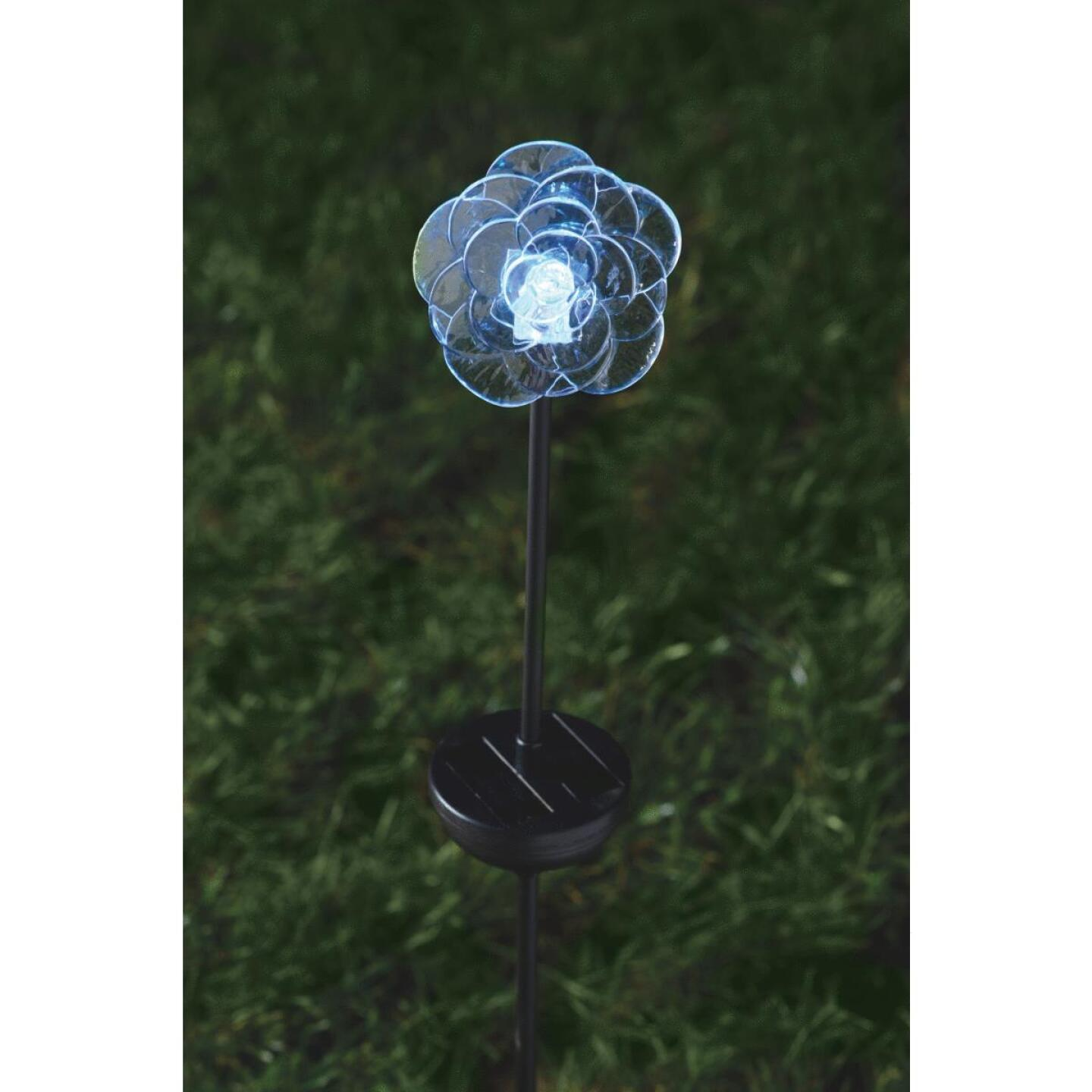 Moonrays Color Changing Plastic 32 In. H. Solar Stake Light Lawn Ornament Image 6