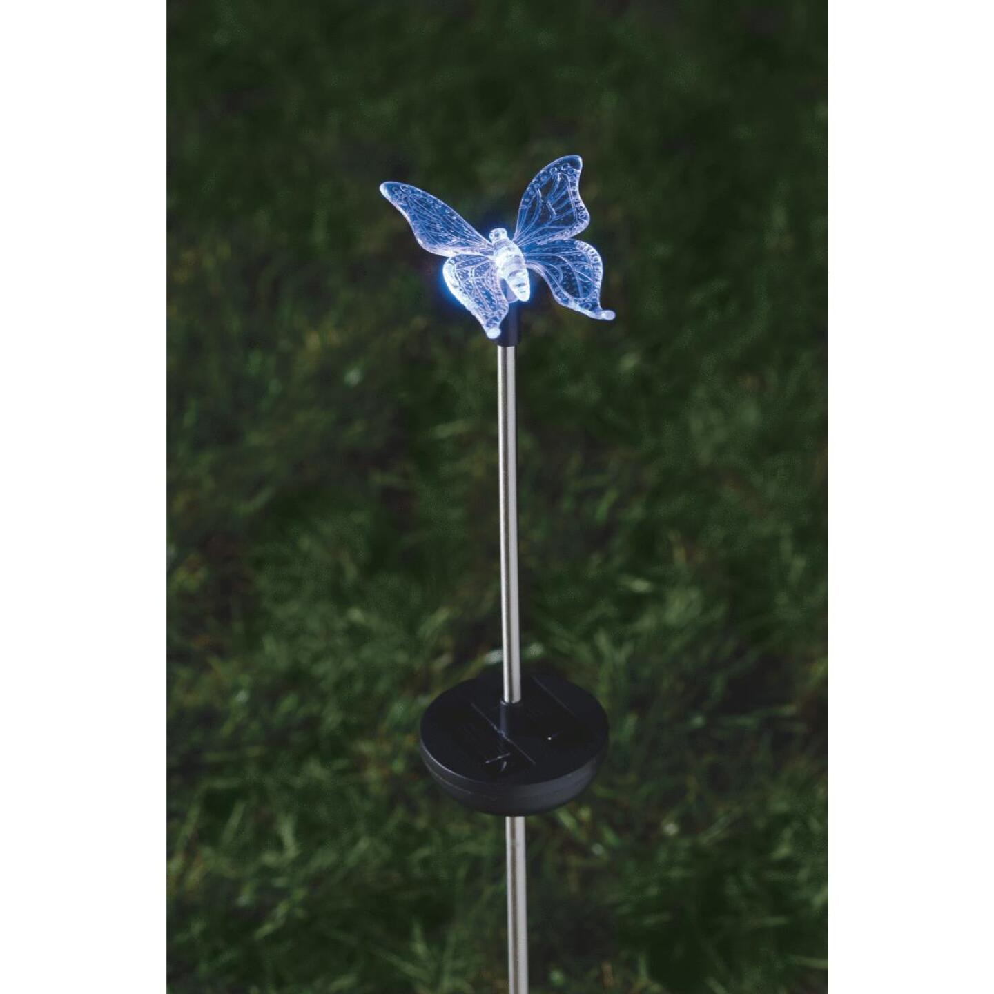 Moonrays Color Changing Plastic 32 In. H. Solar Stake Light Lawn Ornament Image 9
