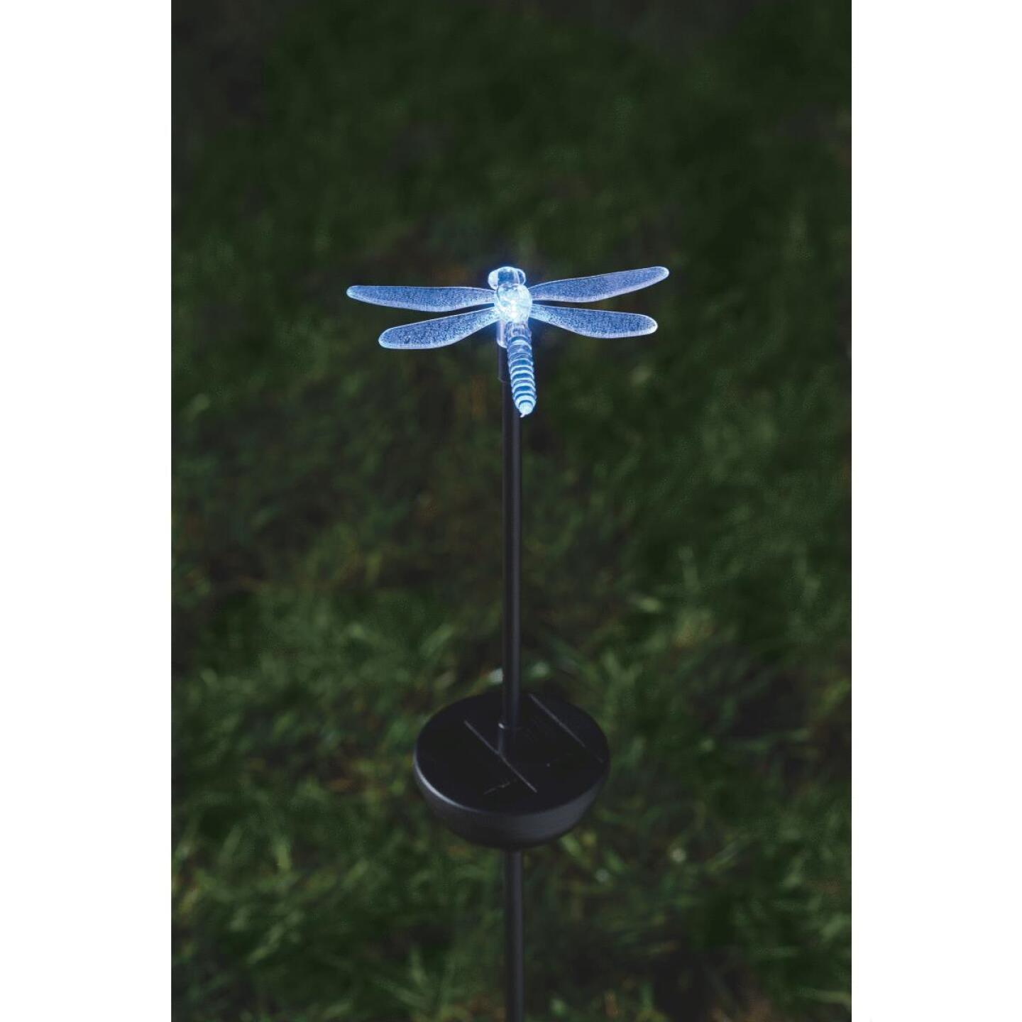 Moonrays Color Changing Plastic 32 In. H. Solar Stake Light Lawn Ornament Image 10