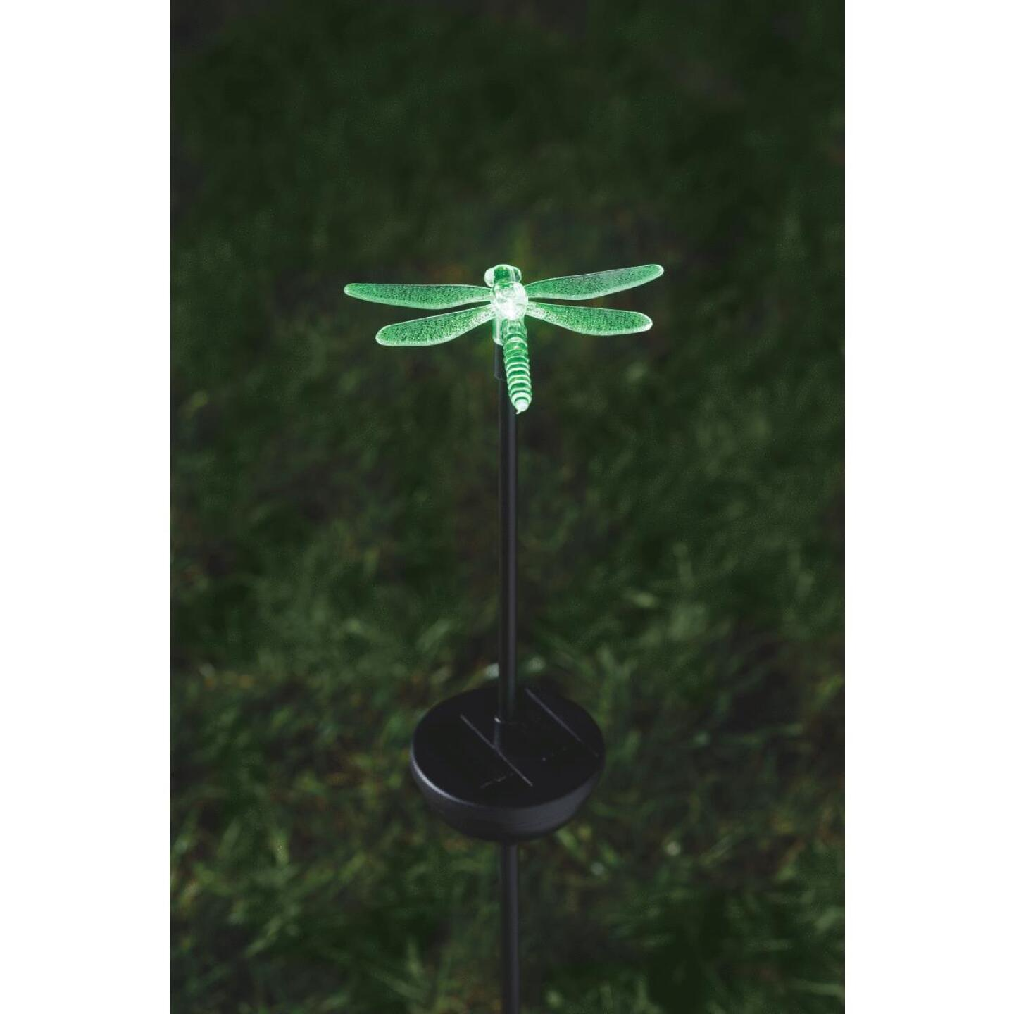 Moonrays Color Changing Plastic 32 In. H. Solar Stake Light Lawn Ornament Image 11