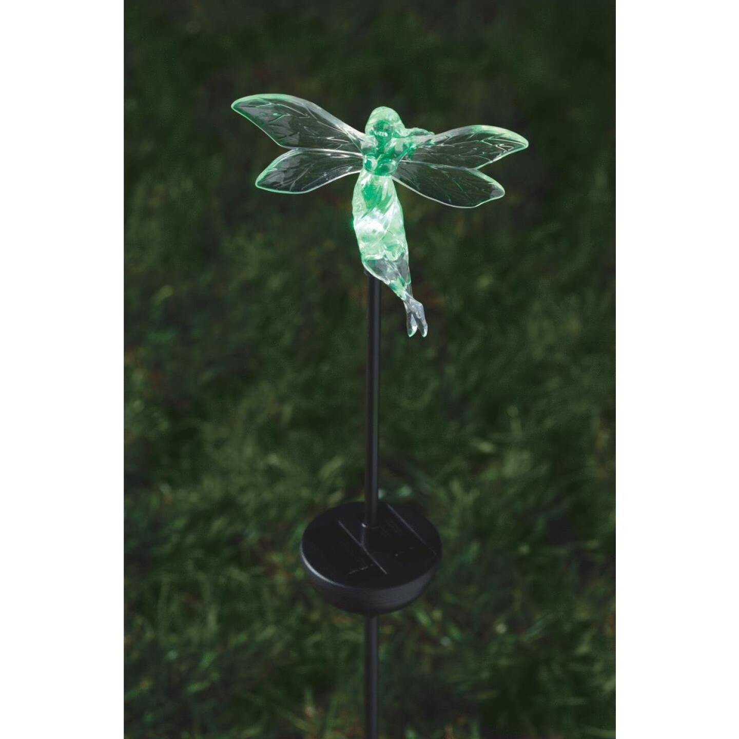 Moonrays Color Changing Plastic 32 In. H. Solar Stake Light Lawn Ornament Image 15