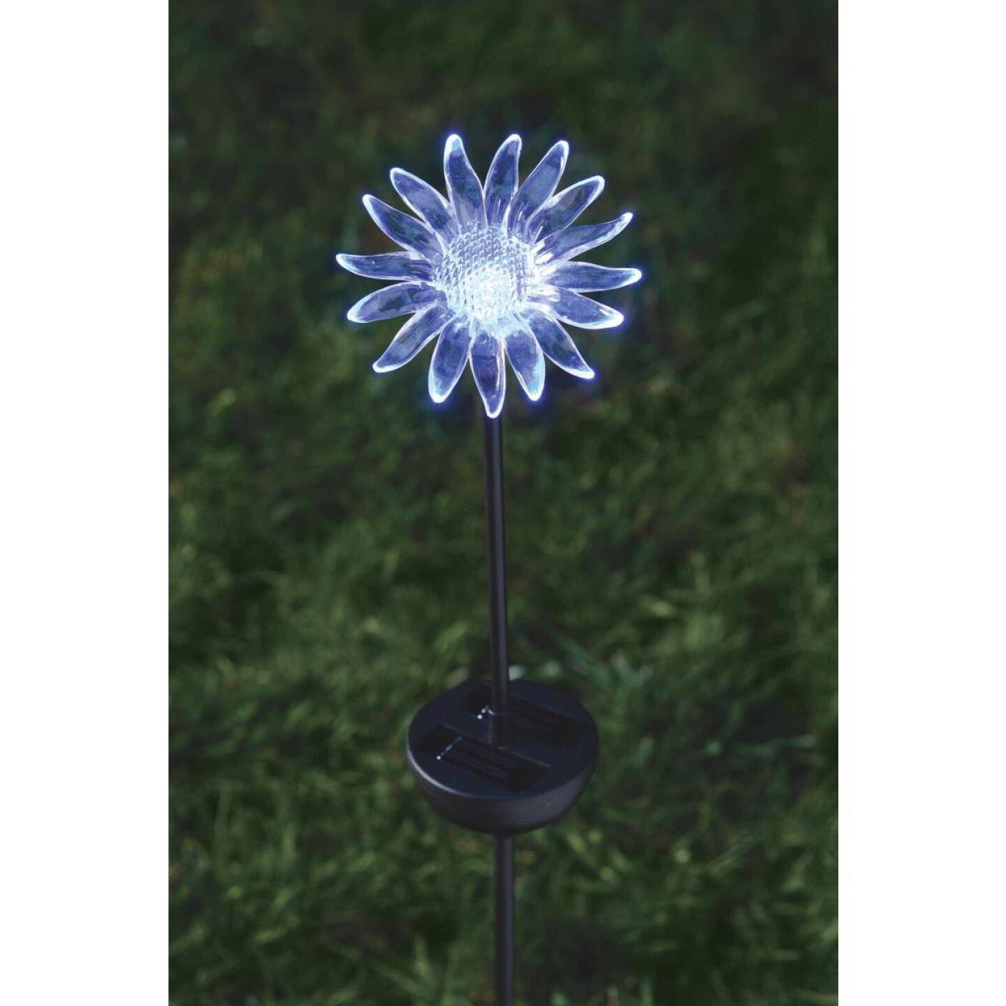 Moonrays Color Changing Plastic 32 In. H. Solar Stake Light Lawn Ornament Image 18
