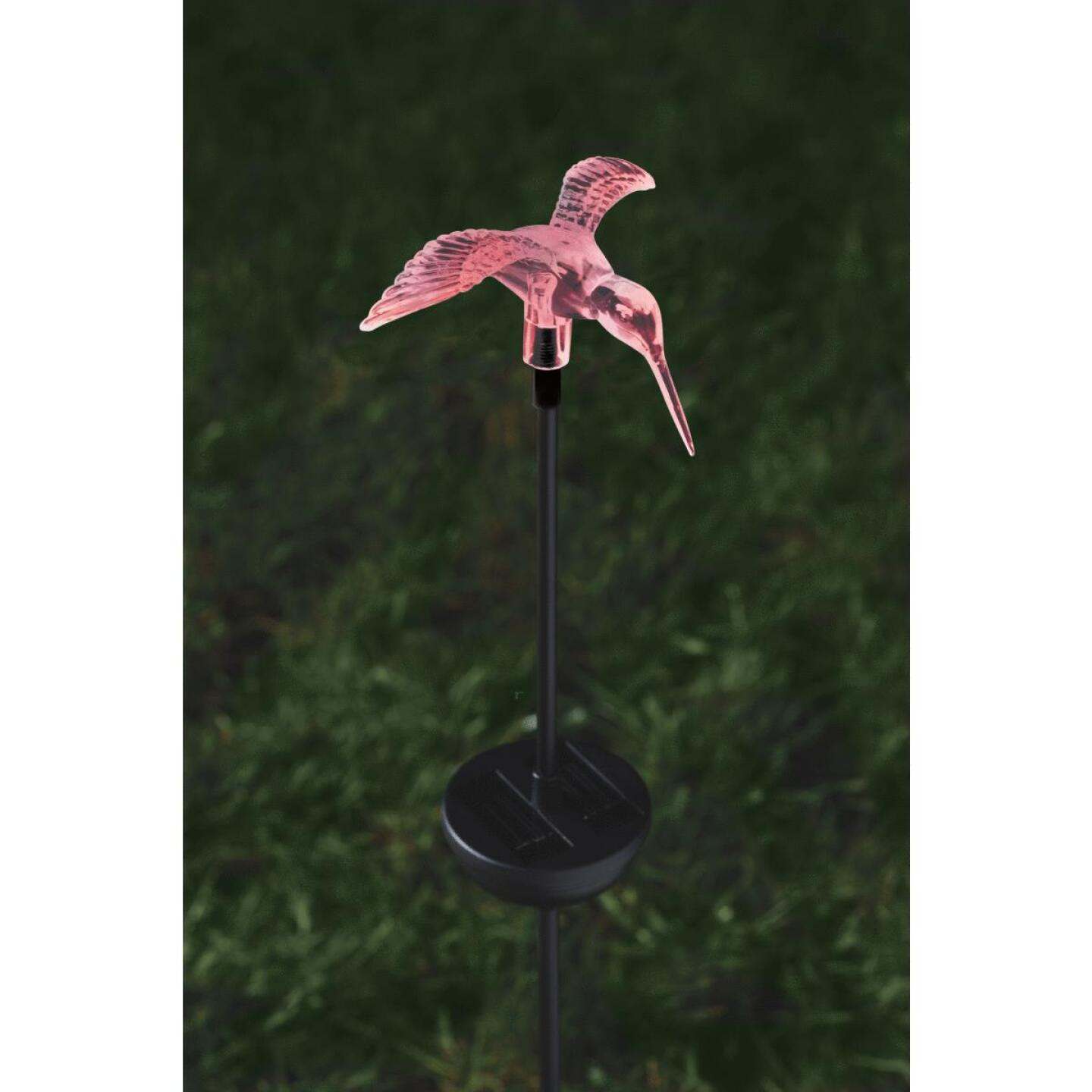 Moonrays Color Changing Plastic 32 In. H. Solar Stake Light Lawn Ornament Image 23