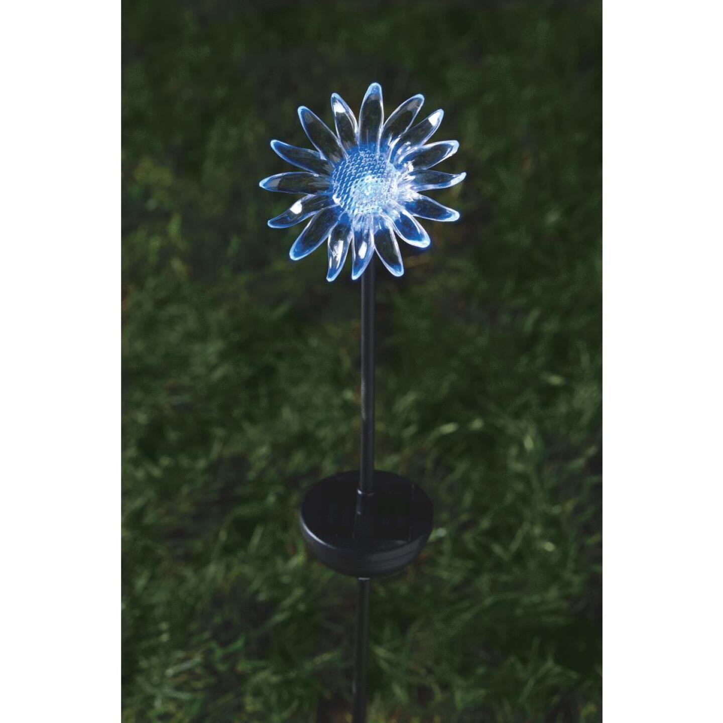 Moonrays Color Changing Plastic 32 In. H. Solar Stake Light Lawn Ornament Image 25
