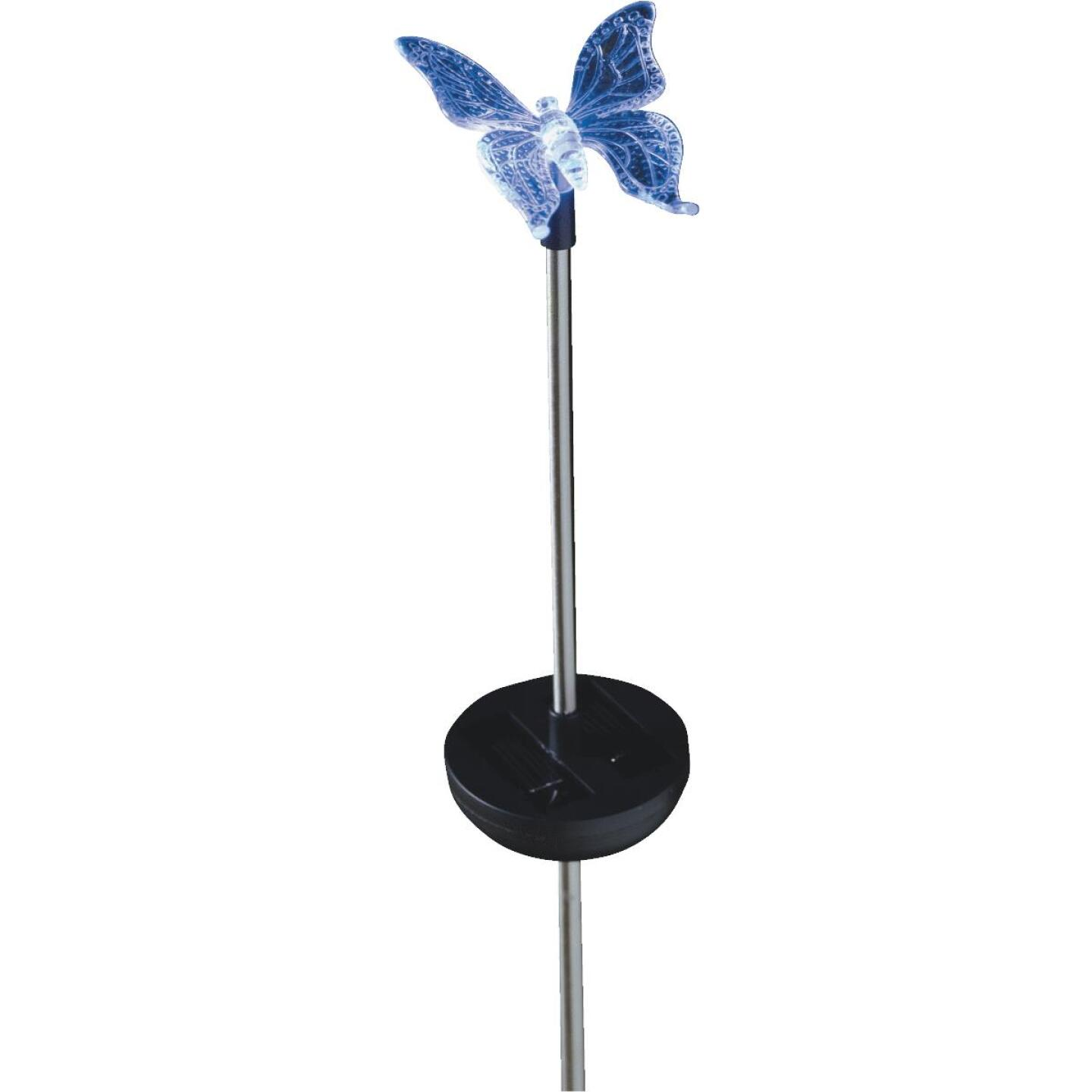 Moonrays Color Changing Plastic 32 In. H. Solar Stake Light Lawn Ornament Image 33