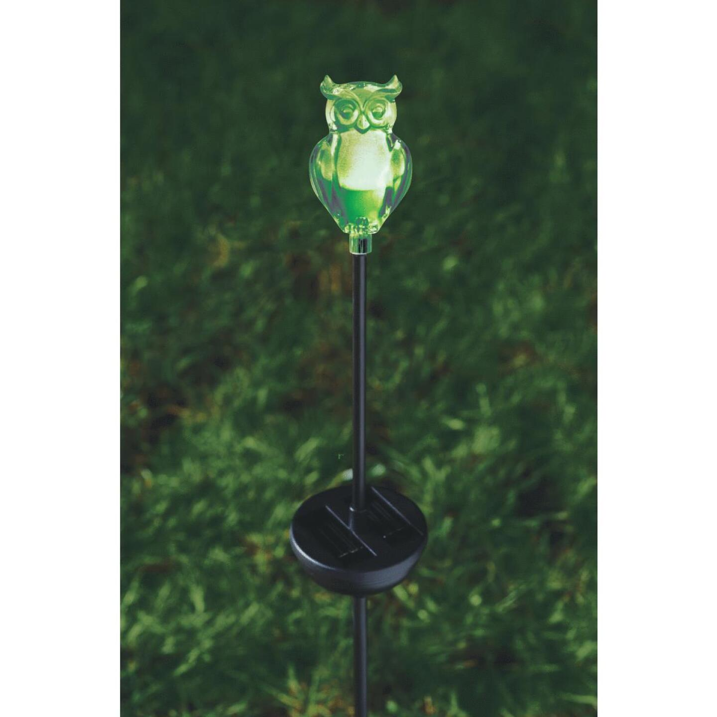 Moonrays Color Changing Plastic 32 In. H. Solar Stake Light Lawn Ornament Image 34