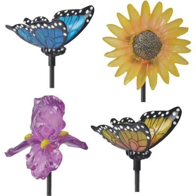 Moonrays Polyresin 35 In. H. Solar Stake Light Lawn Ornament