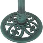 Best Garden Antique Verdigris Flower Pedestal Bird Bath Image 5