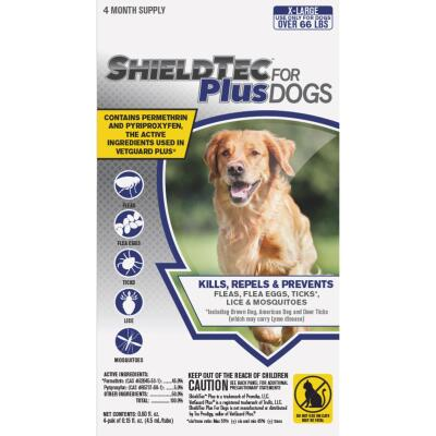 ShieldTec Plus 3-Month Supply Flea & Tick Treatment For Extra Large Size Dogs Over 66 Lb.