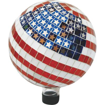 Alpine 11 In. Glass American Flag Gazing Globe Lawn Ornament