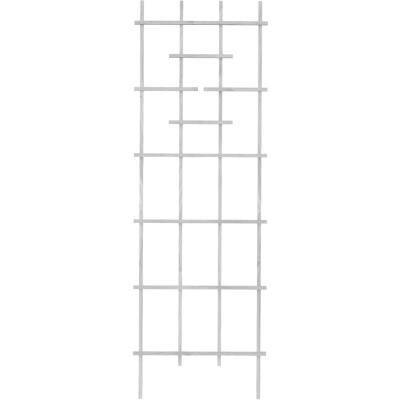 Panacea 72 In. White Wood Ladder Trellis