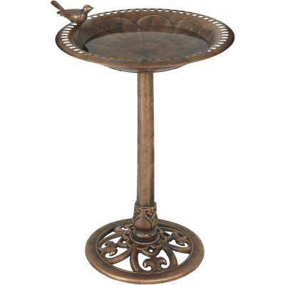 Best Garden Antique Bronze Decorative Pedestal Bird Bath
