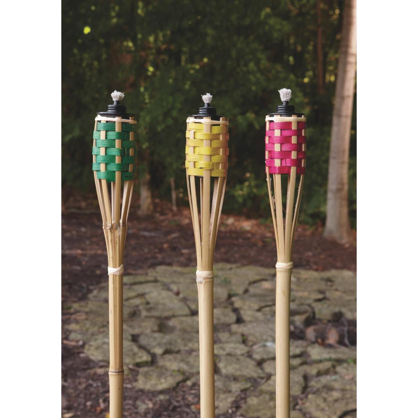 Outdoor Expressions 4 Ft. Assorted Color Bamboo Party Patio Torch Image 7
