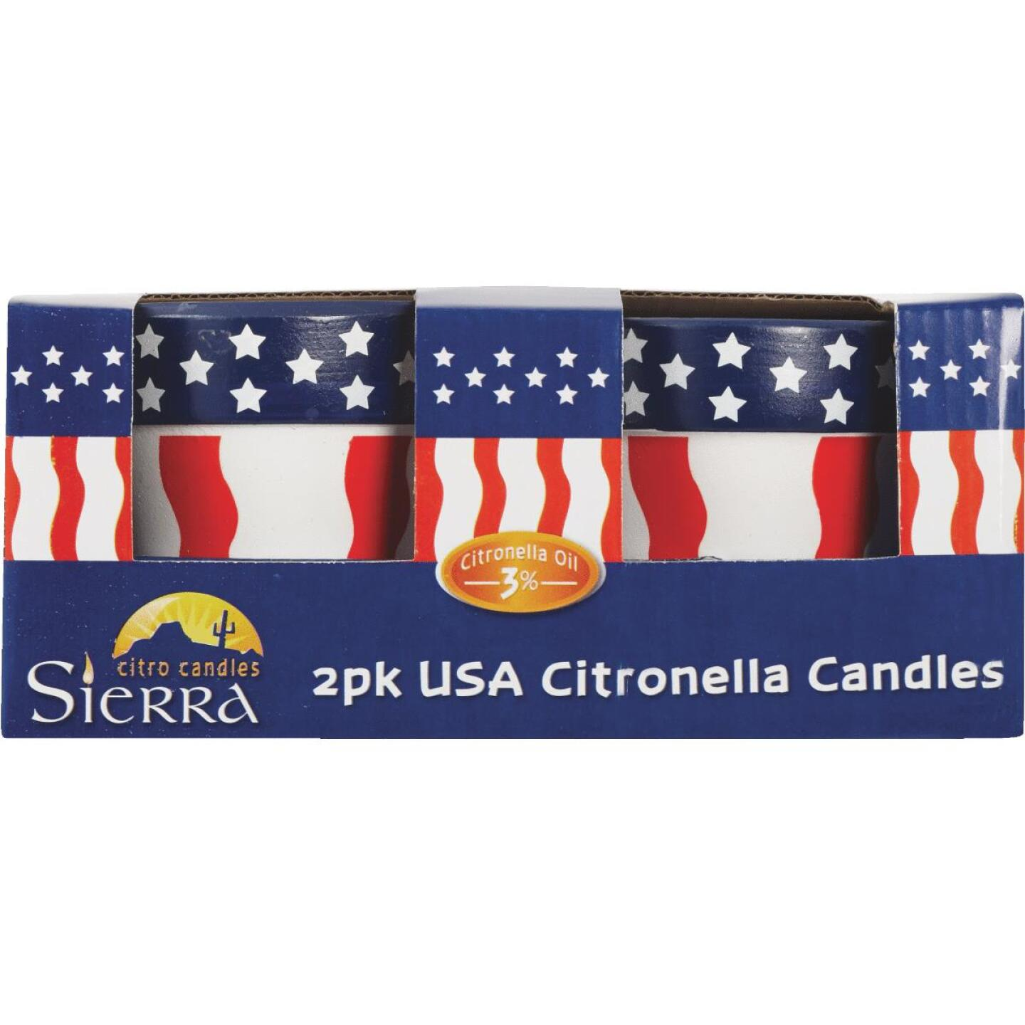 Sierra 3.5 Oz. 1-Wick USA Citronella Candle (2-Pack) Image 2