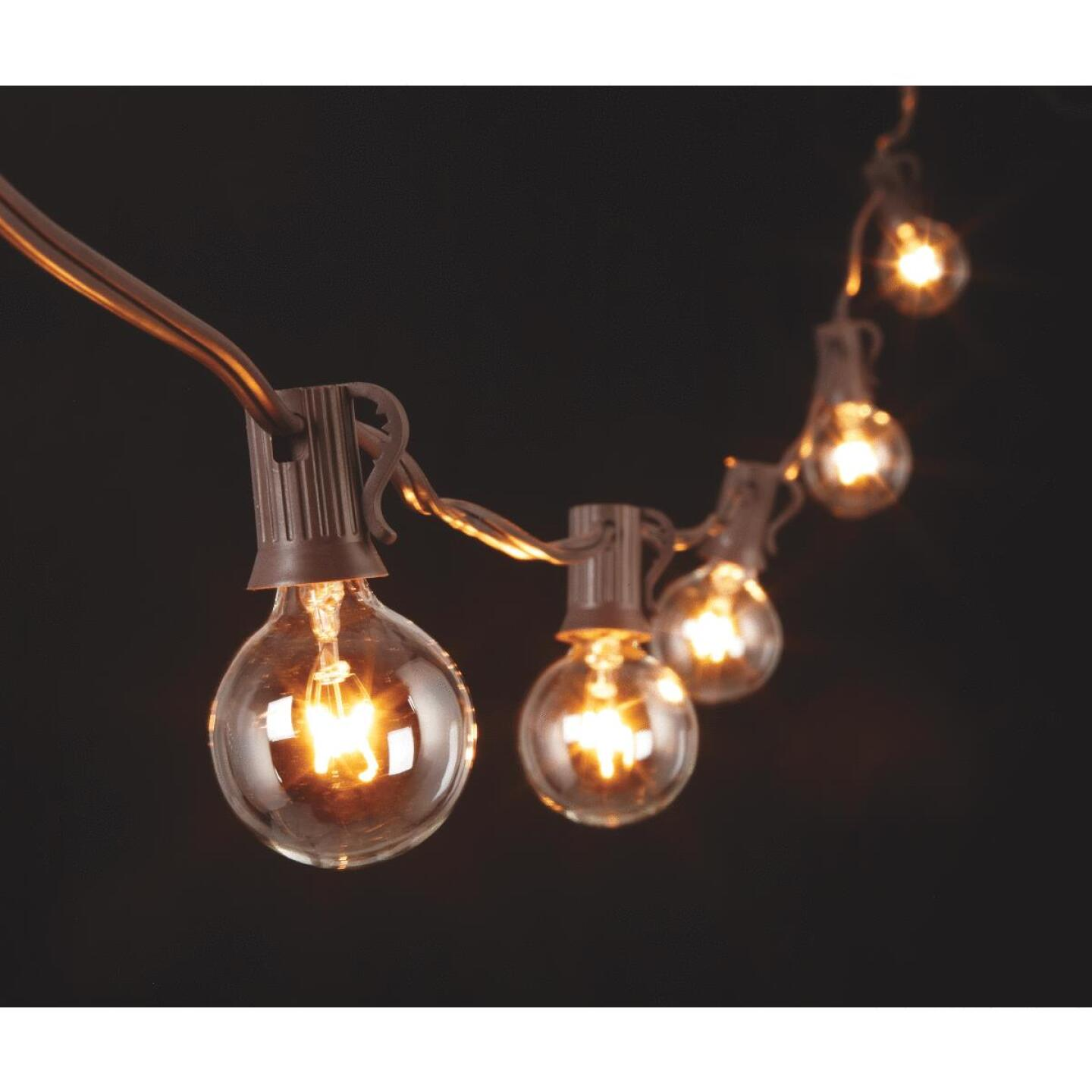 Gerson 20 Ft. 20-Light Clear Bulb String Lights Image 3