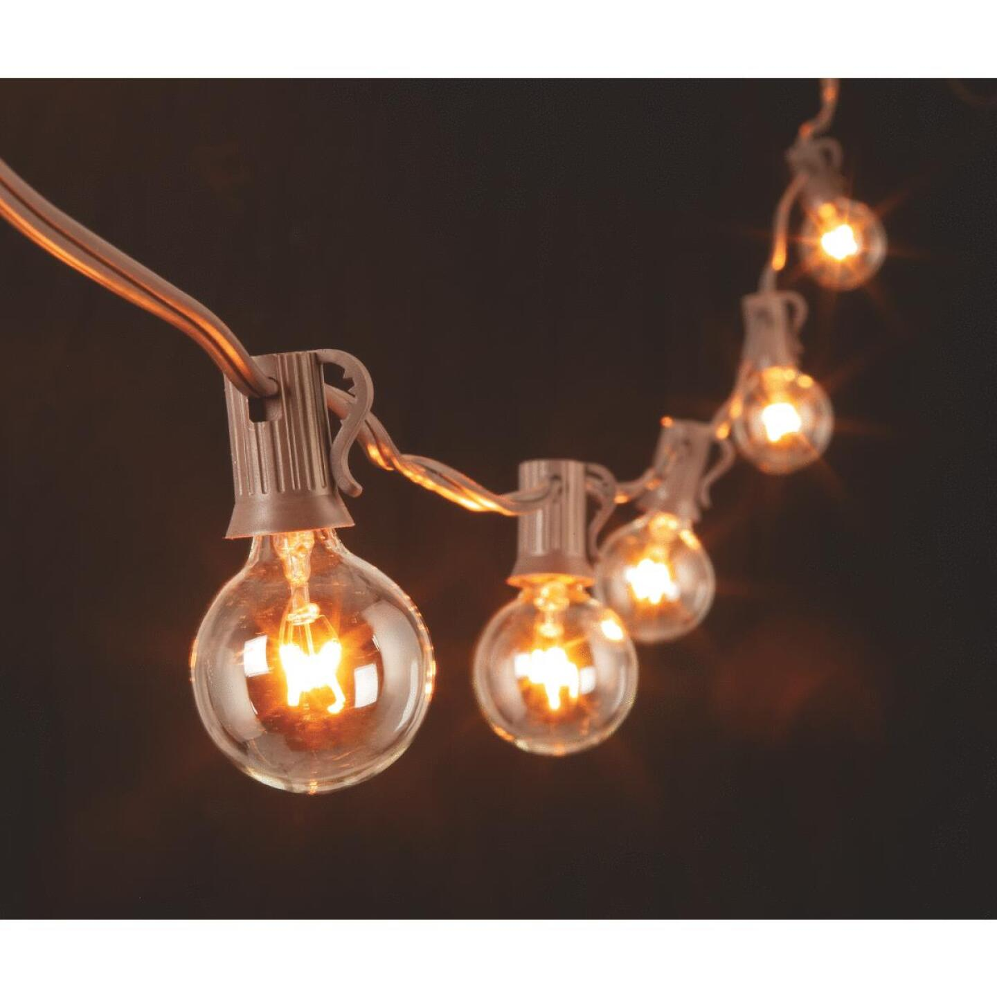 Gerson 20 Ft. 20-Light Clear Bulb String Lights Image 4