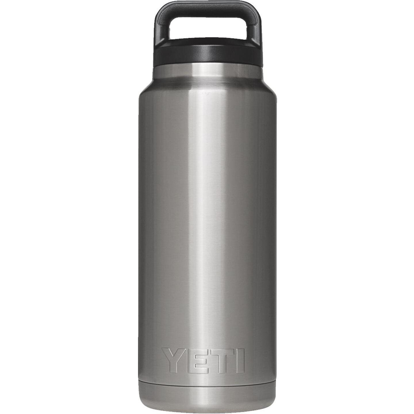 Yeti Rambler 36 Oz. Silver Stainless Steel Insulated Vacuum Bottle Image 1