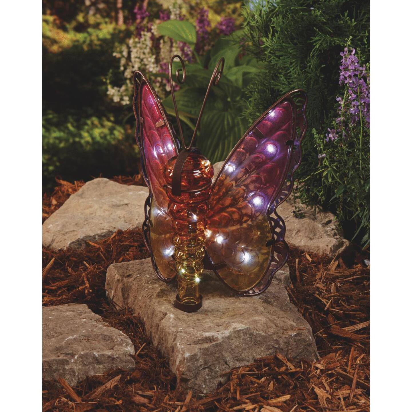 Outdoor Expressions 11.25 In. H. x 8 In. Dia. Butterfly Solar Light Image 4