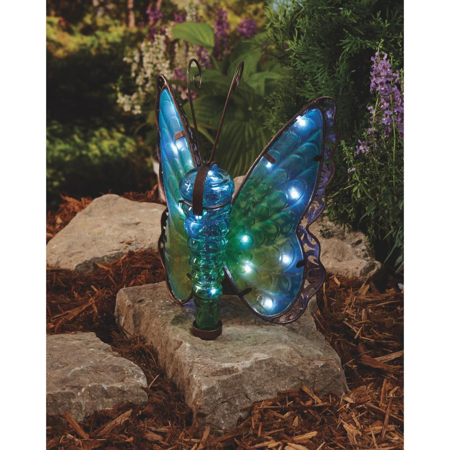 Outdoor Expressions 11.25 In. H. x 8 In. Dia. Butterfly Solar Light Image 5