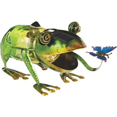 Outdoor Expressions 5.5 In. H. Frog Solar Light