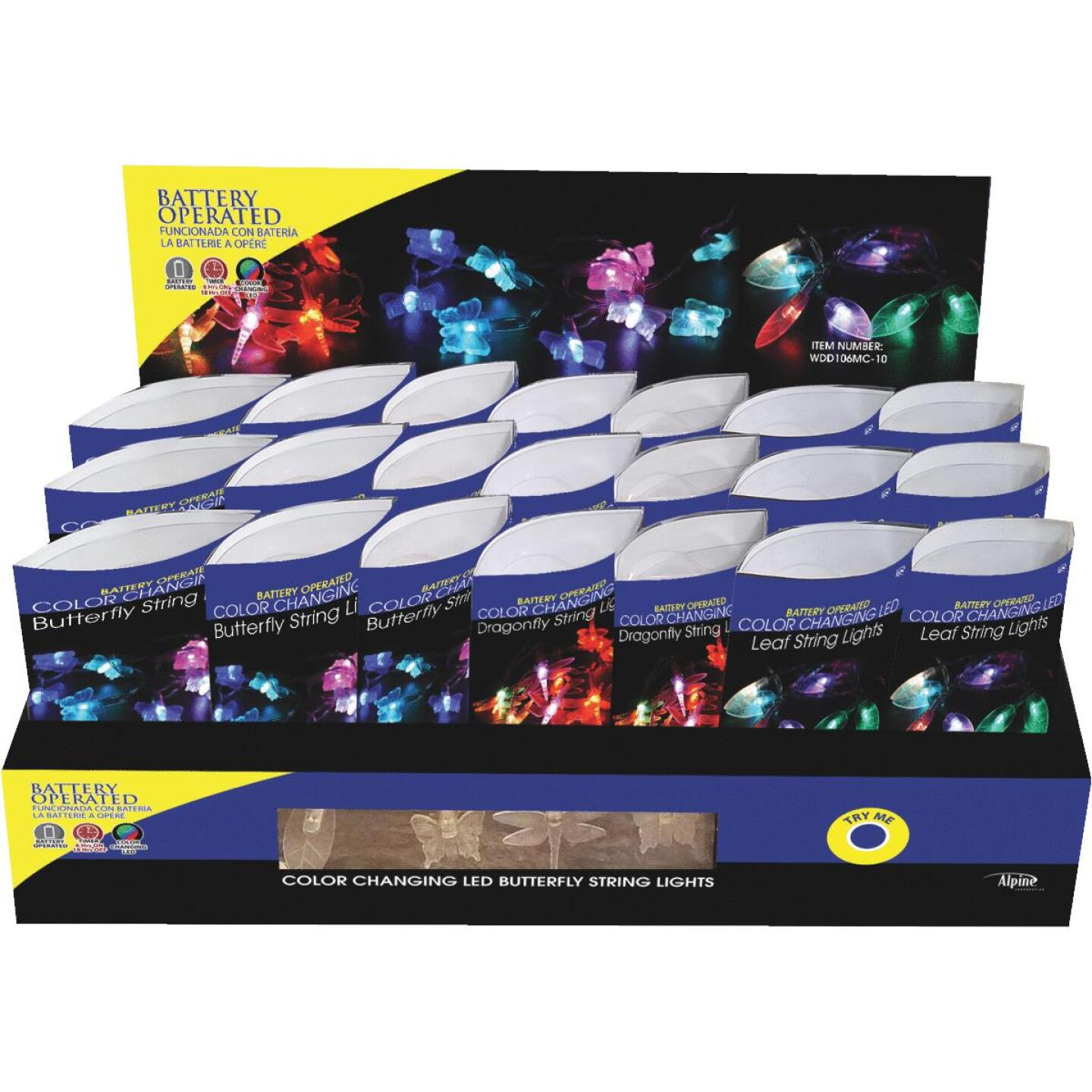 Alpine 5 Ft. 10-Light Clear Color-Changing Insect String Lights Image 6