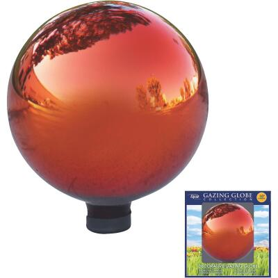 Alpine Glass Red 10 In. Gazing Globe